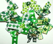 Puppy Bows ~  ST. PATRICK'S DAY DOG GROOMING BOWS ~ HANDCRAFTED IN THE USA