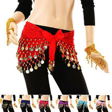 New Style Chiffon Belly Dance India Dance Hip Scarf Coin Belt Skirt Ornament
