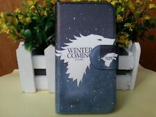 White Wolf Design Game of Thrones PU leather flip case cover for Samsung 2