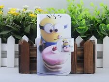 Funny Minions Despicable me PU Leather Flip Case Cover For Samsung Galaxy 142