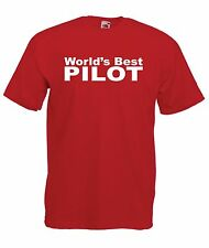 WORLDS BEST PILOT funny aeroplane xmas birthday gift ideas  mens womens T SHIRT