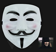 Fancy Dress V for Vendetta Mask Guy Fawkes Movie Creepy Smiling Masquerade