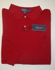 NWT $95 Polo Ralph Lauren Mesh Shirt Mens 3XLT Dark Red Long Sleeve Cotton NEW