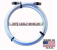 """6"""" Thru 25'Ft SOLID COPPER JUMBO QUAD-SHIELD Coaxial Cable By JIM'S CABLE WORLD®"""