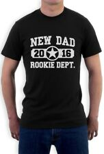 New Dad 2016 Rookie Dept. T-Shirt New Born Baby Father's Day Daddy Gift Tee Top