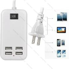 15W 4-Port USB Portable Multi-Port Charger with 5Ft Power Cord For iPhone iPad