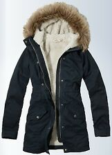 Womens Navy Parka Jacket - JacketIn