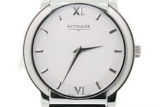 Men's Wittnauer 10A06 Orpheum Black Leather Strap White Dial Watch