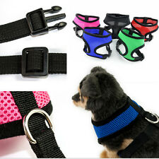 Soft Air Mesh Fabric Small Dog Puppy Pet Harness Padded Adjustable Lead Non Pull