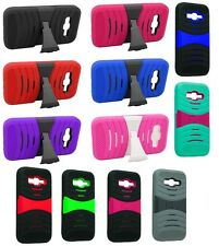 For Samsung Prevail LTE Galaxy Core Prime Arch Stand Hybrid Hard Cover Case