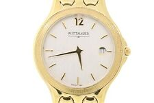 Men's Wittnauer 11B01 Gold-Tone Stainless Steel Beige Dial Date Window Watch