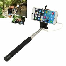 Extendable Handheld Selfie Self Phone Stick Monopod 3.5mm Wired w/ Remote Button