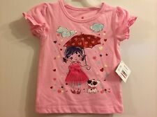Girls pink Valentine applique top 12M 18M 24M 3T 4T 5T girl umbrella tulle skirt