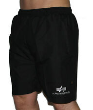 ALPHA INDUSTRIES Sport Swim Short Badehose 111213 black schwarz