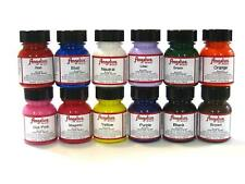 Angelus Acrylic Shoes Boots Handbags Leather Paint/Dye 1 oz/29.5 mL- Starter Kit