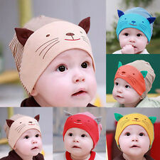 Cotton Beanie Baby boys&girls Hat Cap Infant Newborn Kids Soft Cartoon Kitten