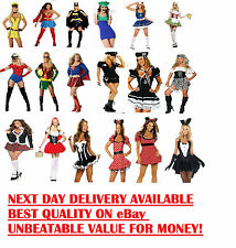 Ladies Fancy Dress Costumes Outfit Sexy Cheap Robin Luigi Chacter Superwoman