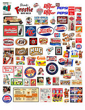 1: 24 1:18 SOFT DRINK SODA POP DECALS FOR DIECAST & MODEL CARS & DIORAMAS