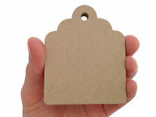 Medium Chubby Scalloped Tags, Kraft Tags, Place Cards, Escort Cards - 100 Count