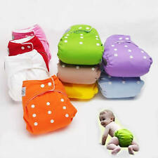 NEW 8 Colors Adjustable Baby Infant Cloth Diapers Reusable Nappy One Size