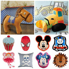 Kids Bedroom/Playroom Plush Cushions - Many Designs for boys and Girls