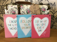 SASS AND BELLE INSPIRATIONAL  DREAMS  HOME VINTAGE PLAQUE  METAL SIGN NEW