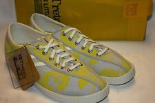 NEW! NIB! TRETORN Nylite Japanese Floral Yellow Gray Sneakers Tennis Shoes