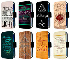 harry potter map quote phone case leather fits iphone samsung mini flip