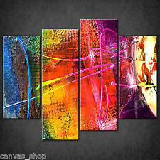 COLOURFUL PAINTING TEXTURE WALL ART CASCADE CANVAS PRINT PICTURE READY TO HANG
