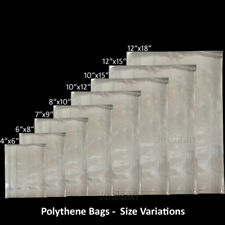 POLYTHENE POLY CLEAR PLASTIC FOOD USE BAGS STORAGE CRAFTS PACKING [ALL SIZES]