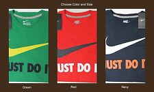 NWT $25 NIKE Just Do It T Shirt Mens Short Sleeve M L XL Navy Red Green NEW