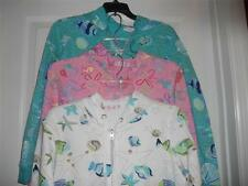 Hooded Zippered Jackets NEW by Sun Bay Petite Beach Designs Size PS or PM