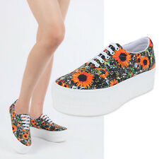 New Women' MAXSTAR Platform Heels High Top Shoes Lace Up Fashion Sneakers_Gogh