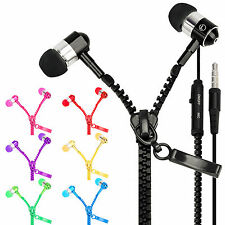 3.5mm Zipper Headphones Earbuds Earphone Headset for iPhone iPod MP3 Laptop Lot