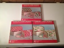 4 Christmas Holiday Die Cut Treat Baked Goods Cookie Candy Present Boxes  *CUTE*