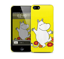 Moomins yellow glossy protective case, iphone 4 5 6 plus Galaxy S3 S4 S5