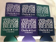 Wedding Koozies Personalized Design 2213 25 to 300 custom can party favors