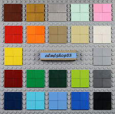 LEGO - 2x2 Tiles - PICK YOUR COLORS - Lot Smooth Finishing Plate Flat Solid Bulk
