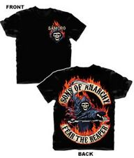SONS OF ANARCHY FLAMED REAPER BLACK T-SHIRT NEW !