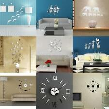DIY Interior Decoration Wall Mirror Stickers Decal / Clock Mural Art Home Decals