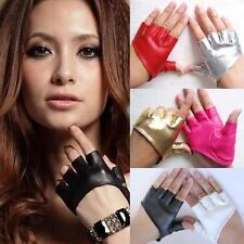 NIce Half Finger PU Leather Gloves Ladys Fingerless Driving Show Pole Dance g55