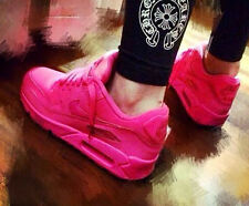 New Nike Air Max 90 Women running shoes red pink  sales