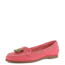 Womens Sperry Top Sider Sabrina Coral Leather Slip On Loafers Shoes Size