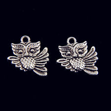 20pcs alloy exquisite owl jewelry charm pendant 19x16mm free shipping