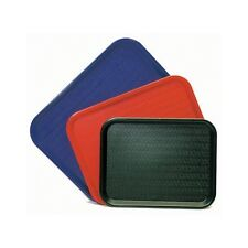 """BLACK Fast Food Trays/Plastic Serving Tray/Cafe Tray - 10"""" x 14"""""""