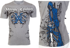 Xtreme Couture AFFLICTION Mens T-Shirt PHANTOM Skulls Tattoo Biker UFC M-3XL $40