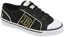 BABYCHAM WOMENS MCPHEE QUILT BLACK FASHION TRAINERS SHOES (R6A)