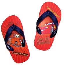DISNEY CARS Flip Flops w/Optional Sunglasses Beach Sandals Toddler's Size 9/10