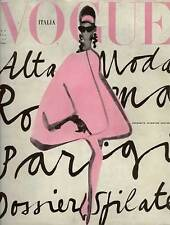 Vintage Vogue Poster - Vogue Italia Lady in Pink - Italy Cover Print or Canvas