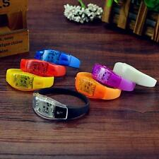 LED Flashing Vibration Activated Bracelet Wristband Bangle Light Up Jogging G20